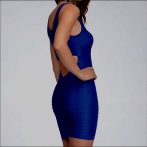 New Bebe RED Sexy Cutout Shine Bodycon Dress